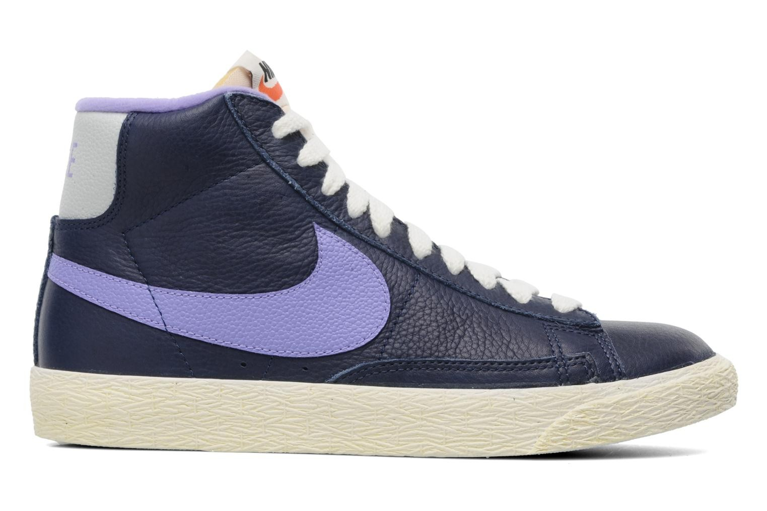 Nike WMNS Blazer Mid Leather (Lthr) Vintage Midnight Navy Atomic Violet Women's Shoe
