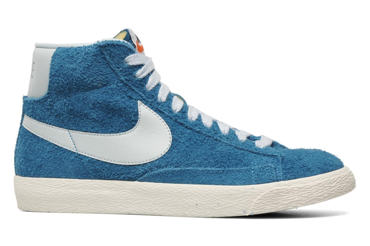 Nike Blazer Mid Prm Vintage Suede Green Abyss Barely Blue Sail Men's Shoe