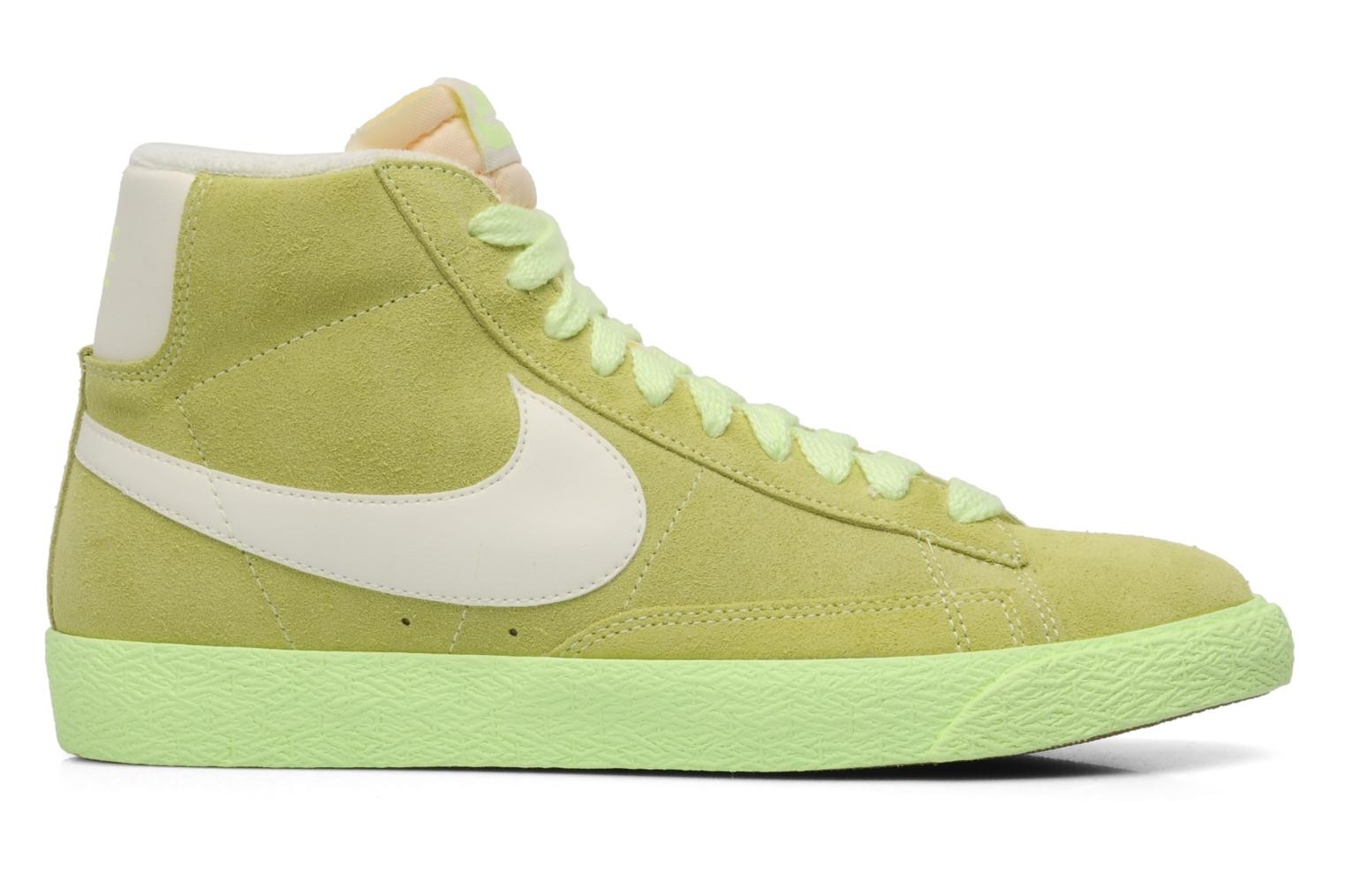 Nike WMNS Blazer Mid Suede Vintage Barely Volt Sail Gum Med Brown Womens High Top Sneakers