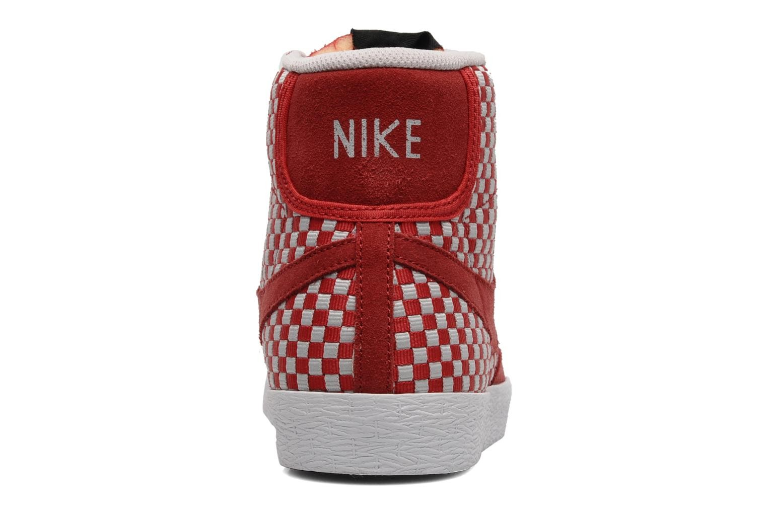 Nike Blazer Mid Woven Hyper Red Neutral Grey Mens High Top Sneakers
