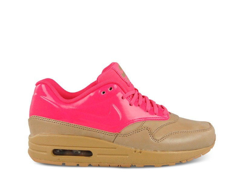 Nike WMNS Air Max 1 VT QS Vachetta Pack 615868-202 Neon Pink Tan Brown Womens Running Shoes