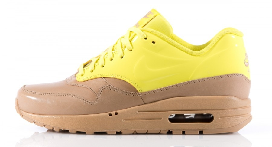 Nike WMNS Air Max 1 VT QS Vachetta Pack Yellow Tan Brown Womens Casual Shoes