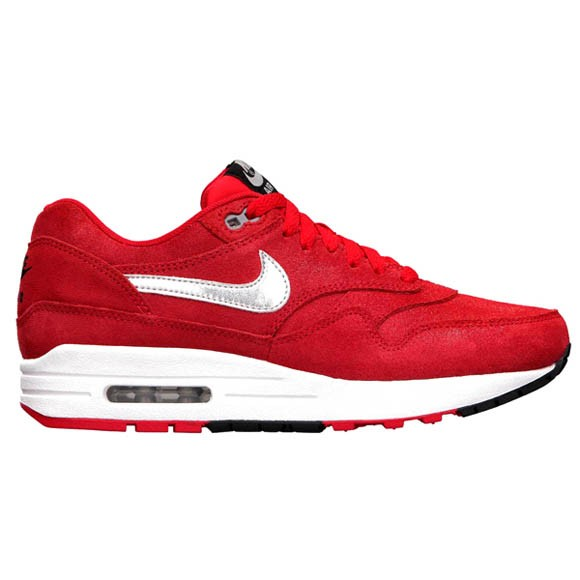 Nike WMNS Air Max 1 Premium Hyper Red Metallic Silver Womens Running Shoes