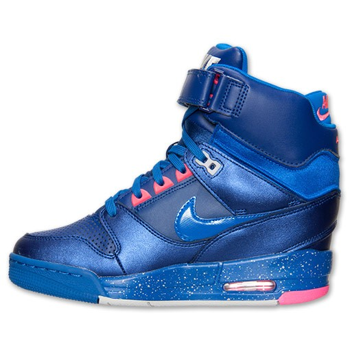 Nike WMNS Air Revolution Sky Hi 599410 401 Deep Royal Blue/Hyper Cobalt Women's Shoe