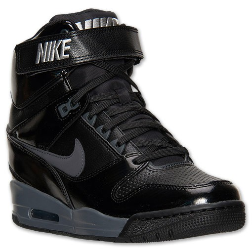 Nike WMNS Air Revolution Sky Hi 599410 009 Black Womens Hidden Wedge Sneaker