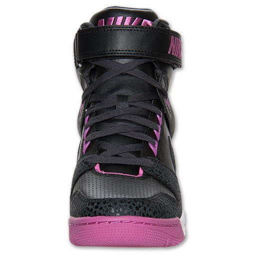 Nike WMNS Air Revolution Sky Hi 599410 009 Black/Rose Violet Womens Hidden Wedge Sneaker