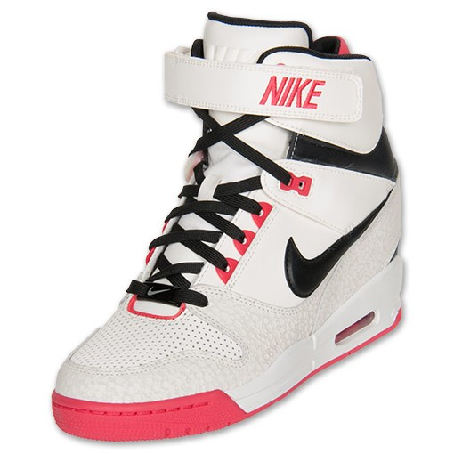 Nike WMNS Air Revolution Sky Hi 599410 100 Sail/Fusion Red/Sail/Black Women's Shoe