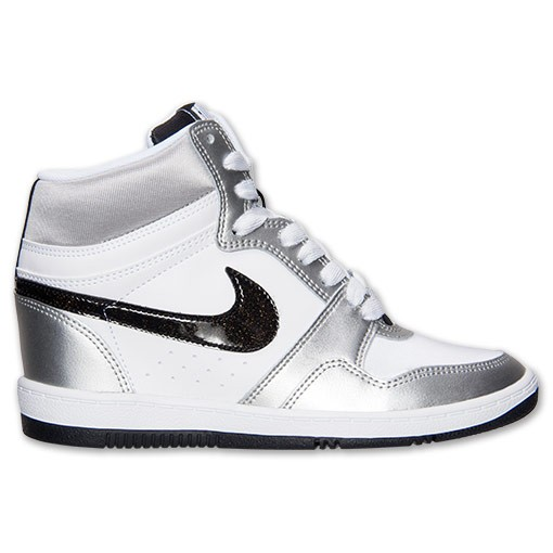 Price 60 Nike WMNS Force Sky High 629746 100 White/Black/Metallic