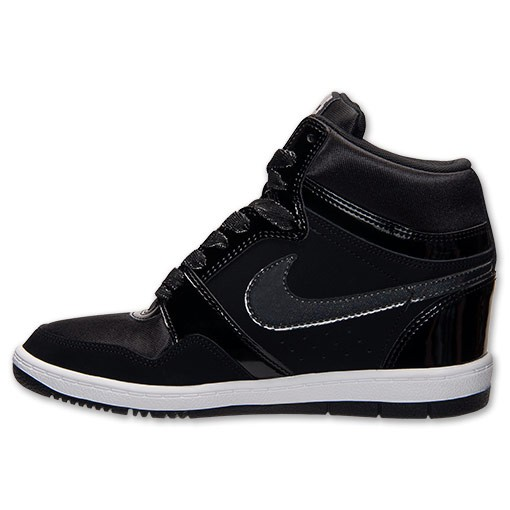 Nike WMNS Force Sky High 629746 001 Black/Anthracite Sneaker Wedge Women's Shoes