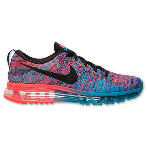 Nike Flyknit Air Max Multicolor 620469 401 Blue Lagoon/Black-Bright Crimson Men's Running shoes