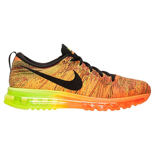 Nike Flyknit Air Max Multicolor 620469 801 Total Orange/Black-Volt-Fireberry Men's Running shoes