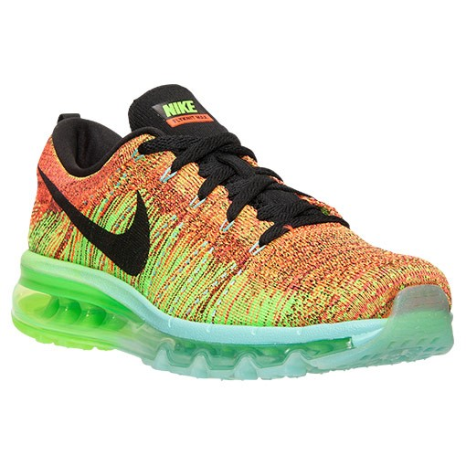 Nike Flyknit Air Max Multicolor 620469 800 Hyper Crimson/Black-Electric Green Men's Running shoes