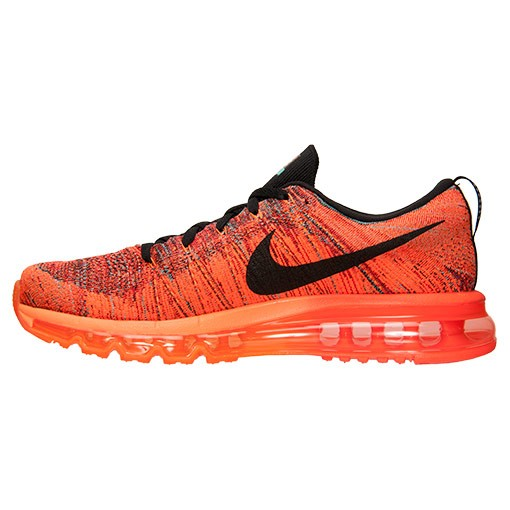 Nike Flyknit Air Max Multicolor 620469 601 University Red/Black-Hyper Crimson Men's Running shoes