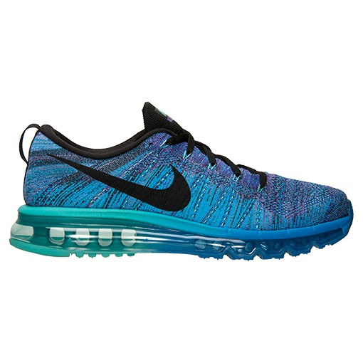 Nike Flyknit Air Max Multicolor 620469 500 Hyper Grape/Photo Blue-Hyper Jade Men's Running shoes
