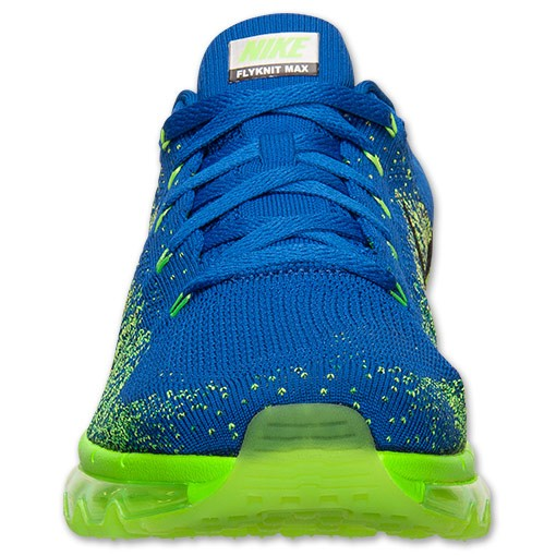 Nike Flyknit Air Max 620469 400 Game Royal/Black-Electric Green Men's Running shoes