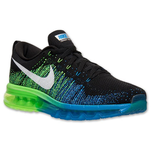 Nike Flyknit Air Max 620469 002 Black/White-Photo Blue-Electric Men's Running shoes