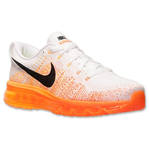 Nike Flyknit Air Max 620469 100 White/Black-Total Orange-Atomic Mango Men's Running shoes