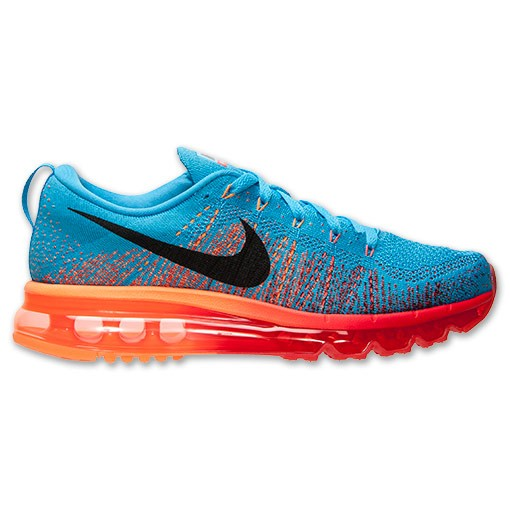 Nike Flyknit Air Max 620469 406 Vivid Blue/Gym Red-Atomic Orange Men's Running shoes
