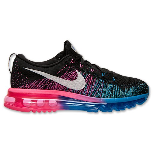 Nike Flyknit Air Max Womens Running Shoes Black/White/Photo Blue/Hyper Punch 620659-002