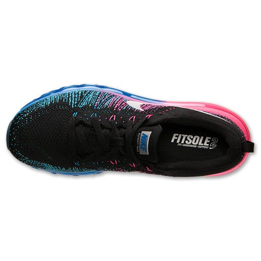Nike WMNS Flyknit Air Max 620659 002 Black/White-Photo Blue-Hyper Punch Women's Running Shoes