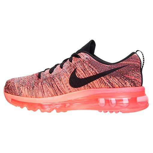 Nike WMNS Flyknit Air Max Multicolor 620659 601 Hyper Punch/Black-Bright Mango Women's Running Shoes