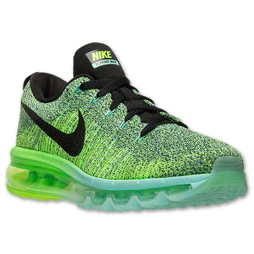 Nike WMNS Flyknit Air Max 620659 300 Hyper Turquoise/Black-Electric Green Women's Running Shoes