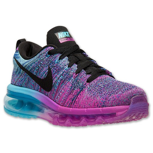 Nike WMNS Flyknit Air Max Multicolor 620659 502 Fuchsia Flash/Black-Clearwater Women's Running Shoes