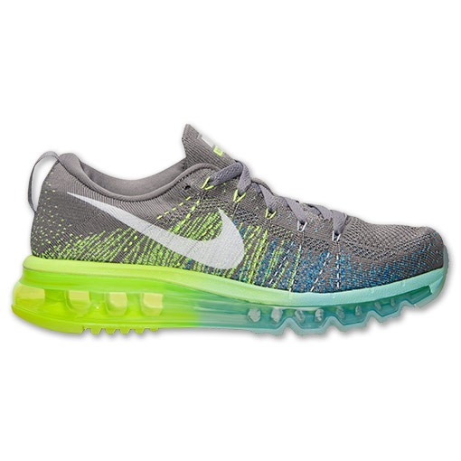 Nike WMNS Flyknit Air Max 620659 017 Glacier Ice/Light Charcoal-Game Royal Women's Running Shoes