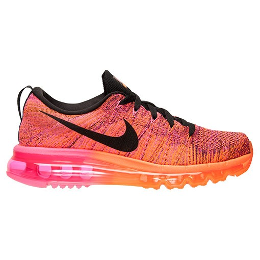 Nike WMNS Flyknit Air Max Multicolor 620659 800 Total Orange/Black-Pink Pow-Fireberry Women's Running Shoes
