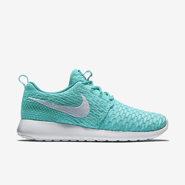 Nike Roshe Run Flyknit Sport Turquoise/Hyper Turquoise/White Women's Fashion Sports Shoes 704927-300