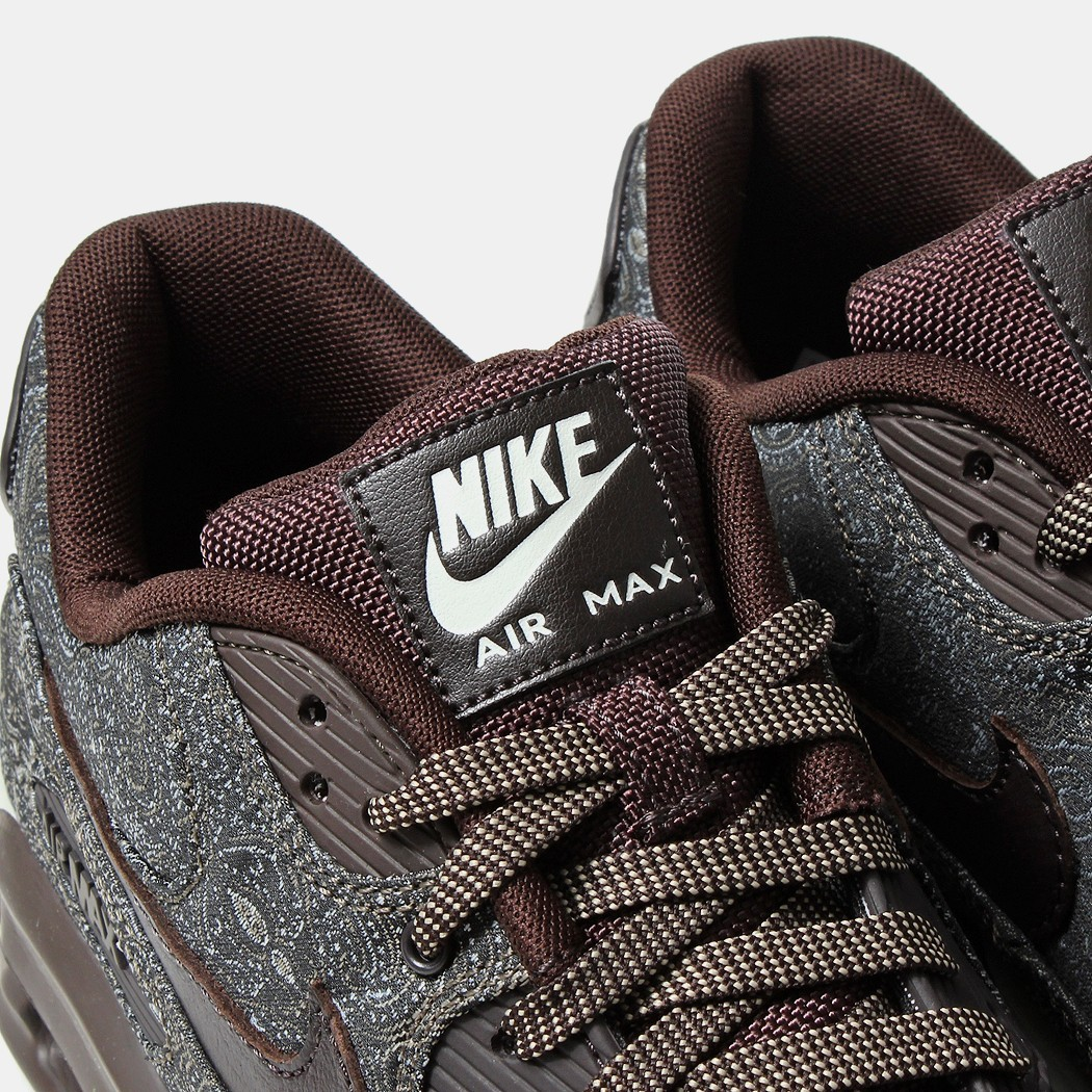 Nike Air Max Lunar90 Paisley Prm Qs Suit and Tie Pack Part 2 705068-201 Velvet Brown Baroque Brown Womens and Mens Shoe