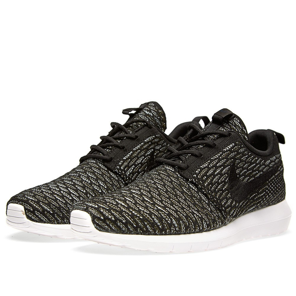 1596e2a780df Price  62 Nike Roshe Run Flyknit NM 677243-003 Black Sequoia Shoes ...
