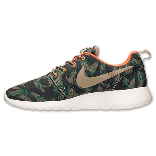 Nike Roshe Run Print Camo 655206 203 Medium Olive Bamboo Gorge Green Mens and Womens Casual Shoes