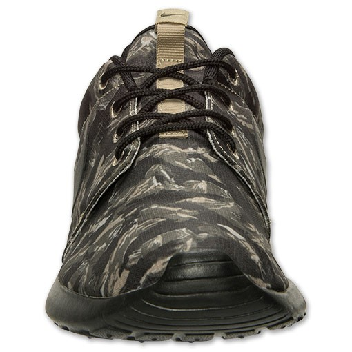 1cee531571d9 ... Nike Roshe Run Print Camo 655206 022 Light Bone Black Cargo Khaki Mens  and Womens Casual ...