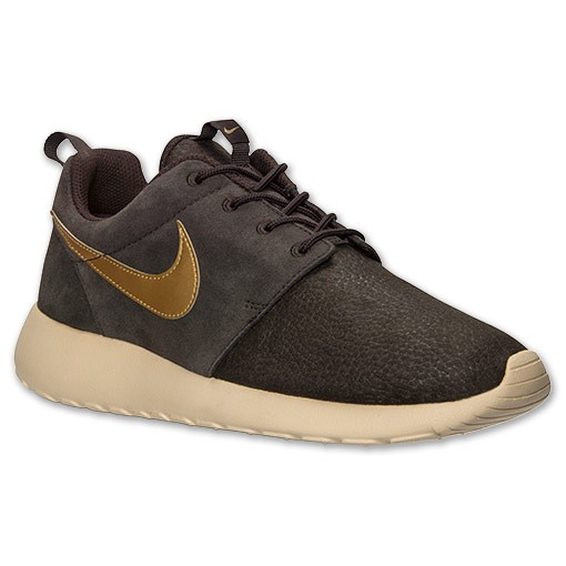 ... Nike Roshe Run Suede 685280 273 Velvet Brown Metallic Gold Sand Mens  and Womens Casual Shoes ...