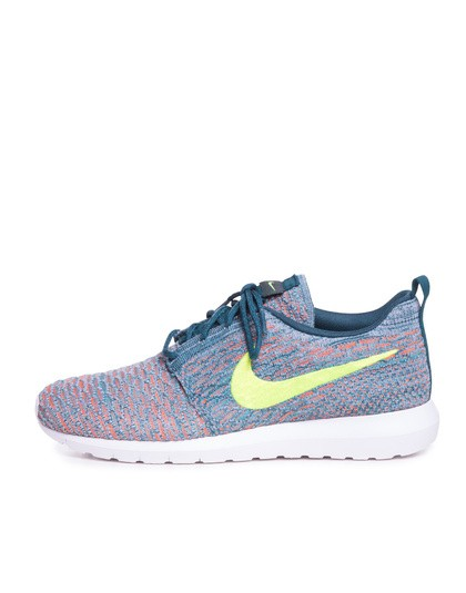 Nike Roshe Run Flyknit Blue Red Volt Shoes