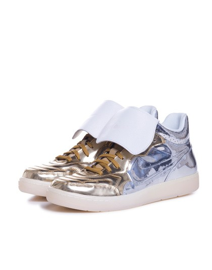 Nike Nsw Tiempo 94 Mid Dlx QS Gold Silver Trainers
