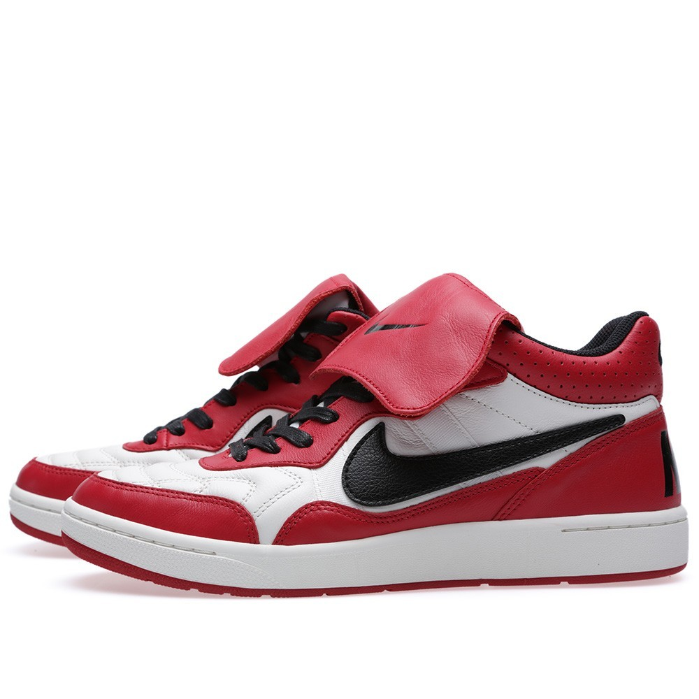 Nike Nsw Tiempo 94 Mid QS Rebel Pack 641147-106 Ivory Black Red Trainers