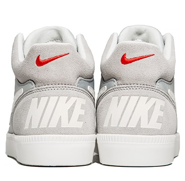 Nike Nsw Tiempo Trainer Mid Wolf Grey Ivory Challenge Red Trainers