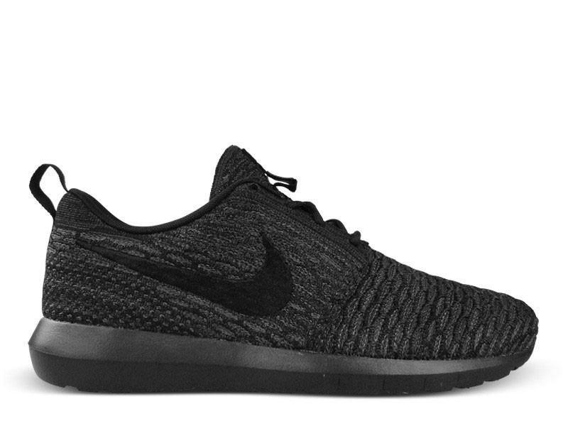 Nike Roshe Run Flyknit Natural Motion Black Anthracite Dark Grey Shoes