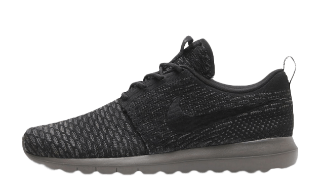 Nike Roshe Run Flyknit 677243-005 Black Grey Shoes