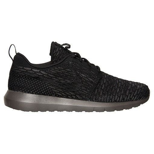 Nike Roshe Run Flyknit 677243 001 Black Midnight Fog Shoes