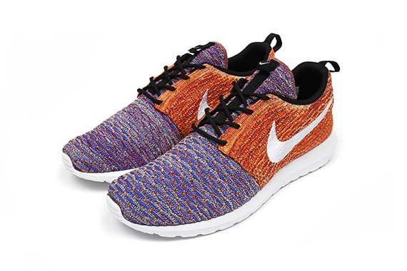 Nike Flyknit Roshe Run Random Yarn Color Purple Orange White Black Shoes