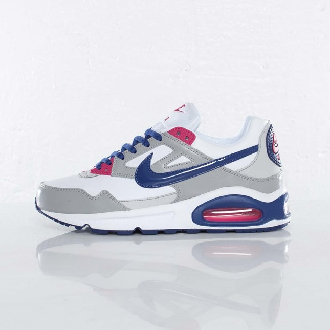 Nike Air Max Skyline (Gs) 372197-111 White Deep Royal Blue Matte Silver Fireberry Junior Trainers