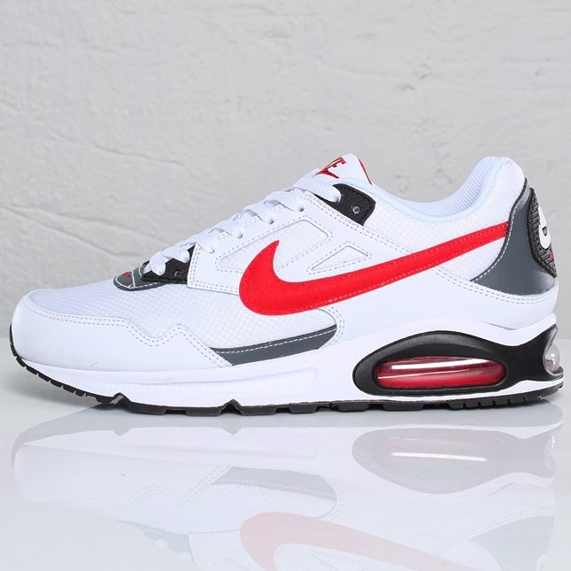 Nike Air Max Skyline 343886-133 White Sport Red White Dark Grey Trainers