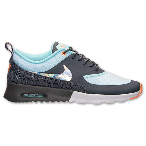 Womens Nike Air Max Thea Premium Print Running Shoes White/Metallic Silver/Dark Grey/Glacier - Style 616723 101