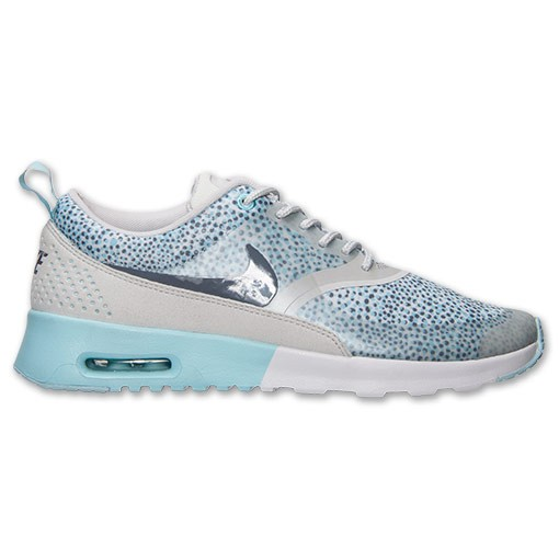 Womens Nike Air Max Thea Print Running Shoes Light Grey/Cool Grey/Glacier Ice - Style 599408 004