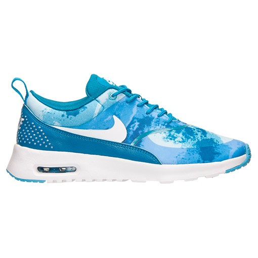 Womens Nike Air Max Thea Print Running Shoes Light Blue Lacquer/White/Clearwater - Style 599408 401