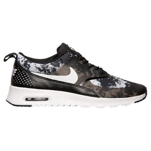 Womens Nike Air Max Thea Print Running Shoes Black/White/Dark Grey - Style 599408 007