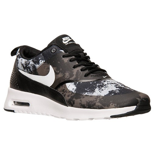 ... Womens Nike Air Max Thea Print Running Shoes Black/White/Dark Grey -  Style ...